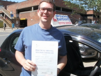 Excellent instructor, passed first time!