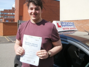 Thank you Franco Youacute;ve built my skill and confidence with driving and as a result Iacute;ve passed first time I would definitely recommend you to anyone looking for an instructor