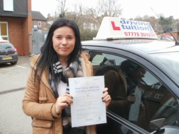 """I'm over the moon! Just passed my driving test ☺️👏👏 thank you so much Franco, you are the best!'"