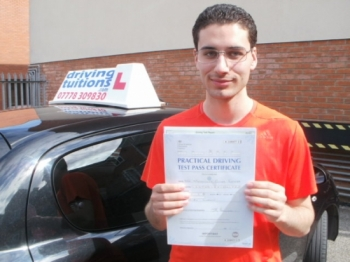 Great instructor, Franco genuinely cares, very happy to have passed first time.